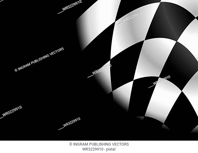 checkered black and white flag ideal as a formula one background