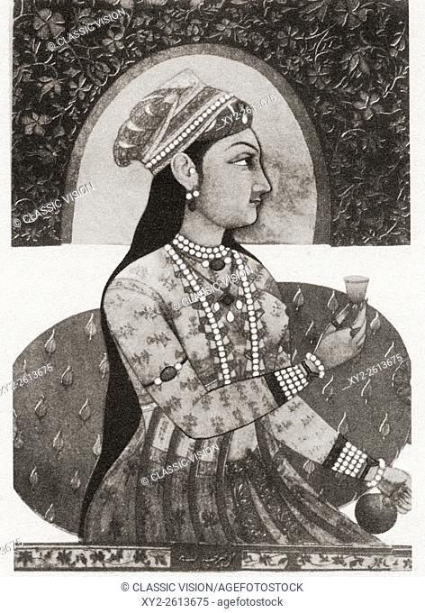 "Reputed portrait of Nur Jahan, 1577 â. "" 1645, born as Mehr-un-Nissa. Empress of the Mughal Empire as the chief consort of Emperor Jahangir"