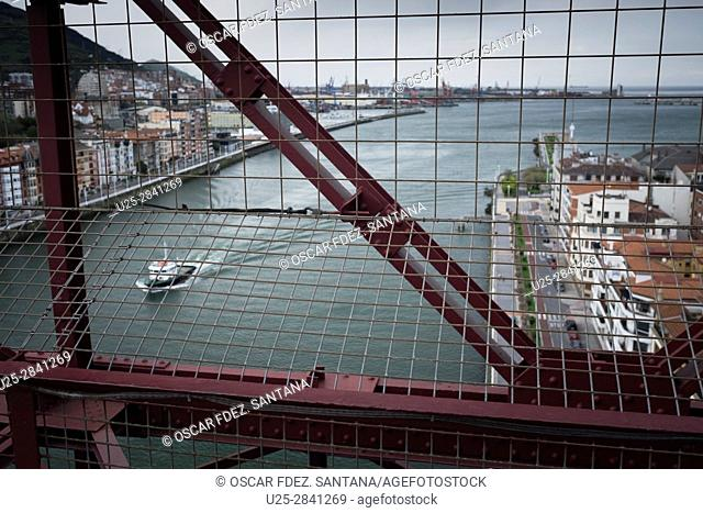 Spain, Basque Country, Bizkaia, Portugalete, Puente Colgante