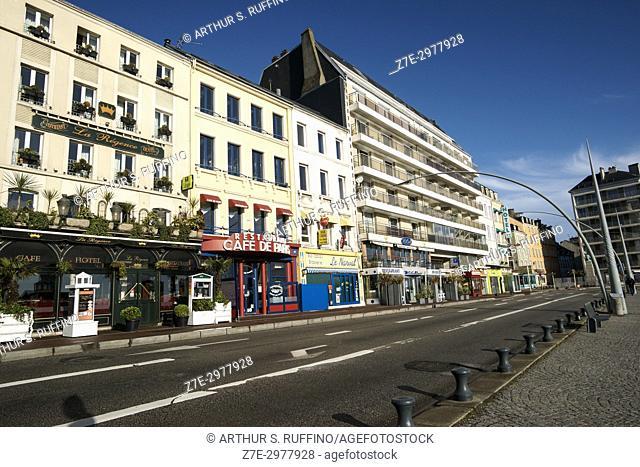 Quai de Caligny, Cherbourg-Octeville, Manche Department, Normandy, France, Europe