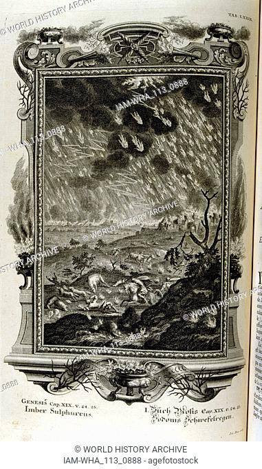 Divine judgment by God was passed upon Sodom and Gomorrah and two neighbouring cities, which were completely consumed by fire and brimstone