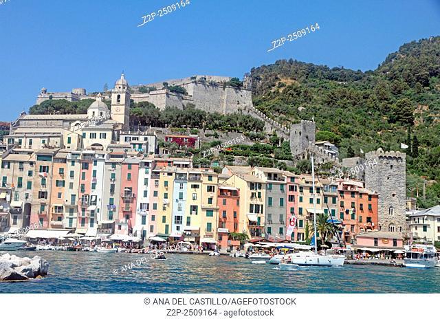 PORTO VENERE ITALY-JULY 18: Porto Venere is a touristic spot in Liguria on July 18, 2015 in Portovenere La Spezia Italy