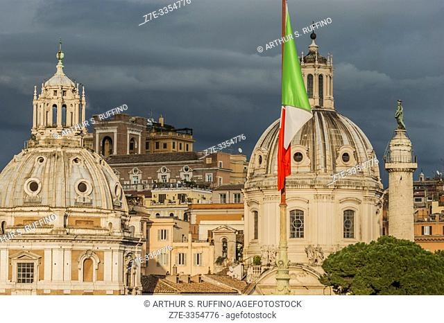 Churches of Santa Maria di Loreto (St. Mary of Loreto) and Santissimo Nome di Maria al Foro Traiano (Church of the Most Holy Name of Mary at the Trajan Forum)