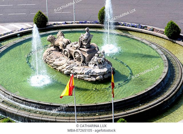 Madrid, Plaza Cibeles, Fountain, Fuente de Cibeles