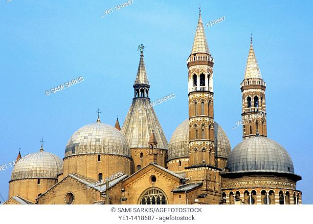 Facade of the Basilica of St  Anthony, Padua, Italy