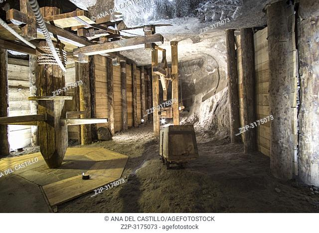 KRAKOW POLAND ON SEPTEMBER 24, 2018: Salt Mine in Wieliczka is UNESCO World Heritage Site