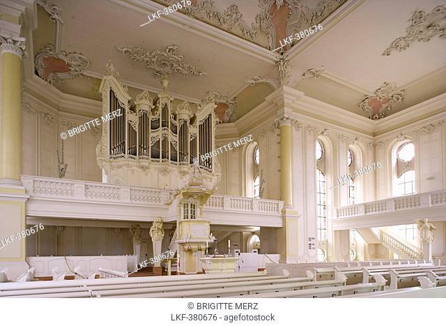 Interior view of the Ludwigskirche, St. Louis' Church, Alt-Saarbruecken, Saarbruecken, Saarland, Germany, Europe