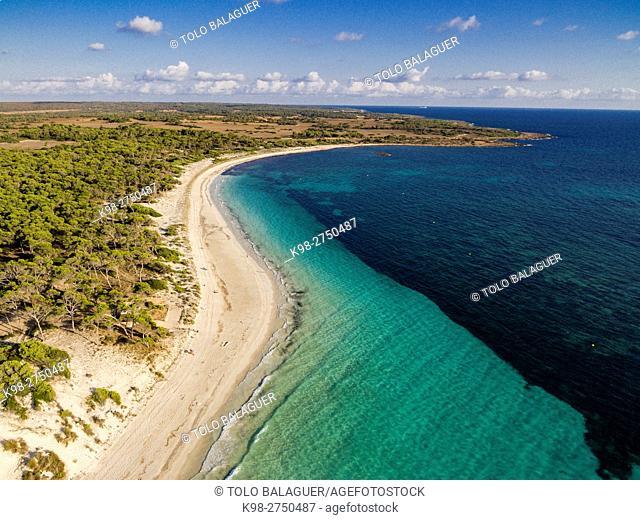 Es Carbo playa, Ses Salines, Majorca, Balearic Islands, Spain