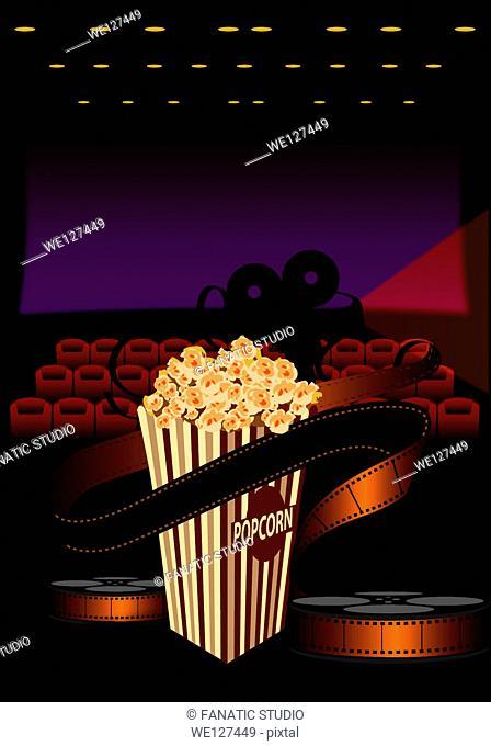 Popcorn in a movie theater