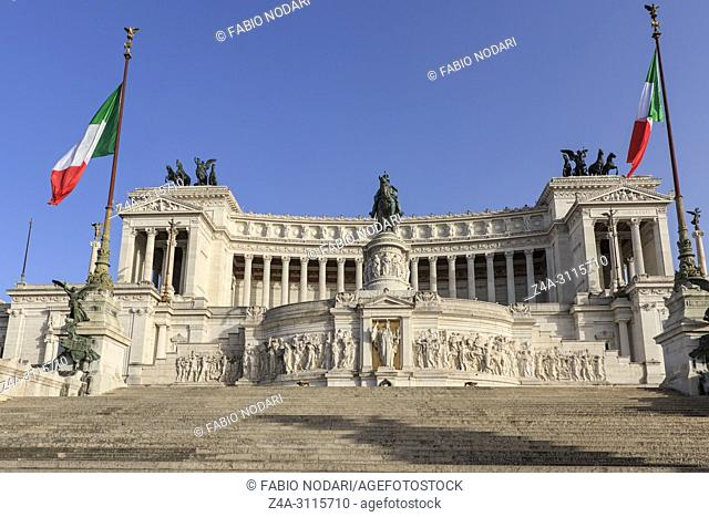 Altar of the Fatherland, Altare della Patria, also known as the National Monument to Victor Emmanuel II in Rome Italy