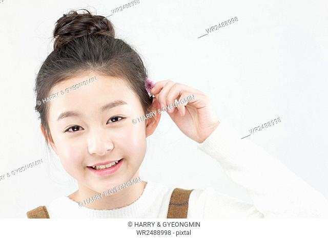 Portrait of smiling Korean school girl