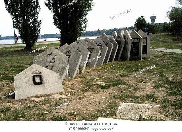 Croatia, Vukovar, A memorial to the rebuilding of Vukovar on the banks of the Danube