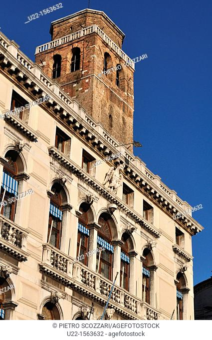 Venezia (Italy): bell-tower in Campo San Geremia