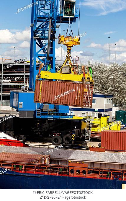 Loading container ship Southampton Docks