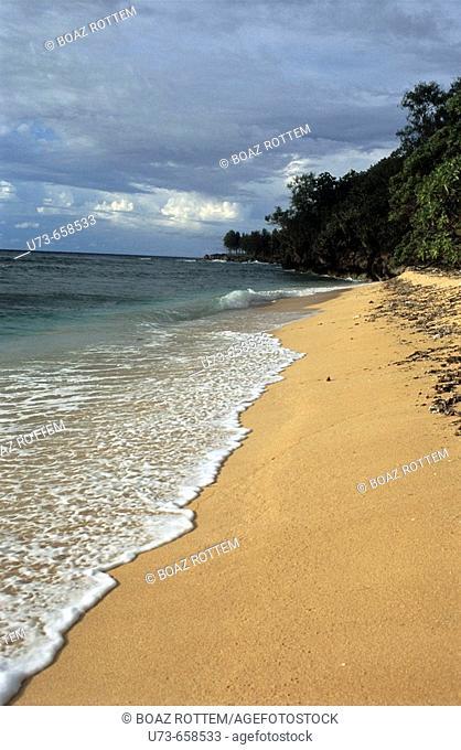 Beautiful coast line in the island of Angur, Palau