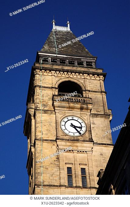 Town Hall Clock Tower in Wakefield West Yorkshire England