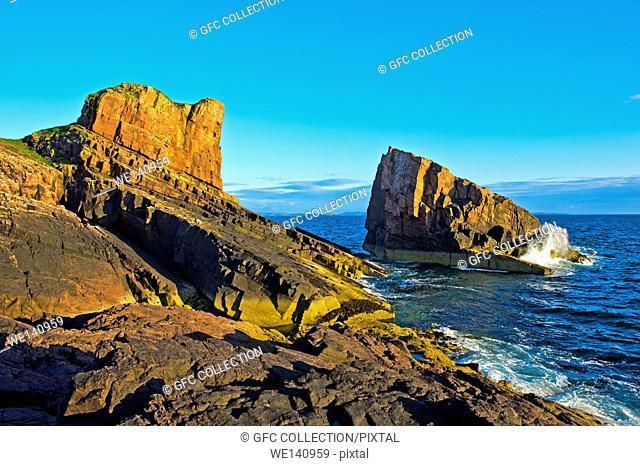 Split Rock, Clachtoll, Assynt, Scotland, Great Britain