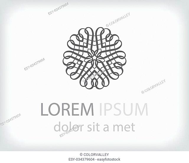 black and white logo design element. Vector illustration
