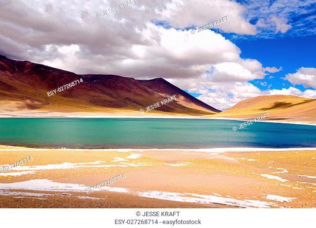Lake Miscanti in the highlands of Chile near San Pedro de Atacama