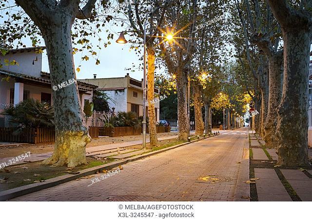 Mar street. Pineda de Mar. Barcelona. Catalunya. Spain