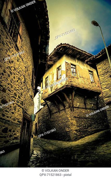 Narrow street in old town, Birgi, Izmir, Turkey