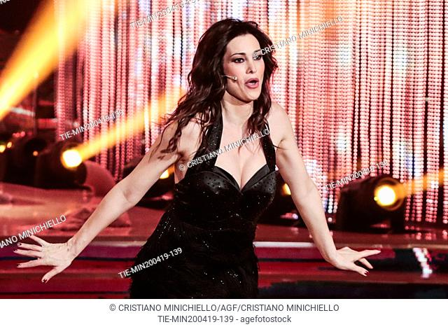 Manuela Arcuri during the performance at the tv show Ballando con le stelle (Dancing with the stars) Rome, ITALY-20-04-2019
