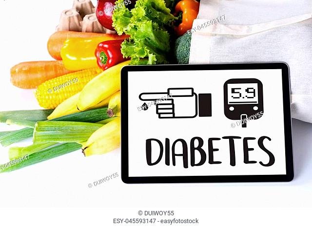 a diabetes test, health Medical Concept , Obesity , blood test