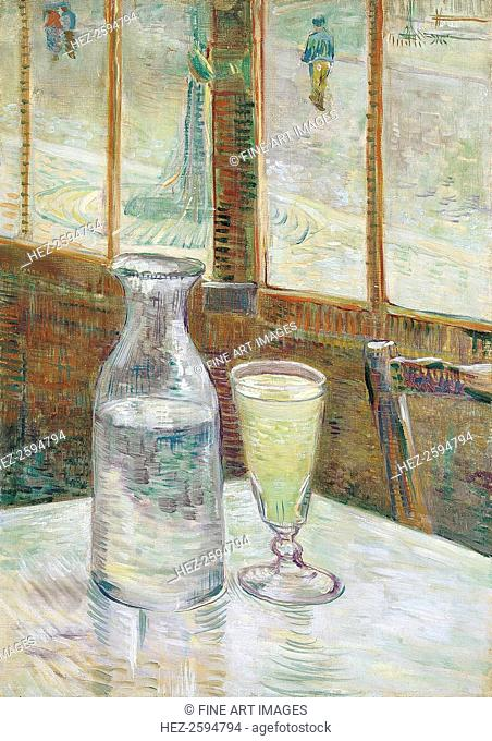 Café table with absinth, 1887. Found in the collection of the Van Gogh Museum, Amsterdam