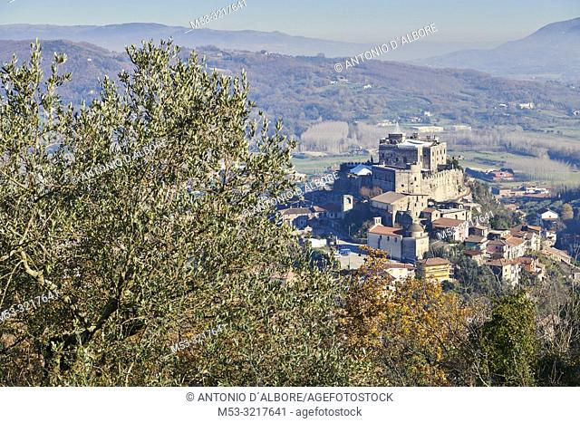 The Limatola Castle, a Norman structure built during the 16th century. Province of Benevento. Italy