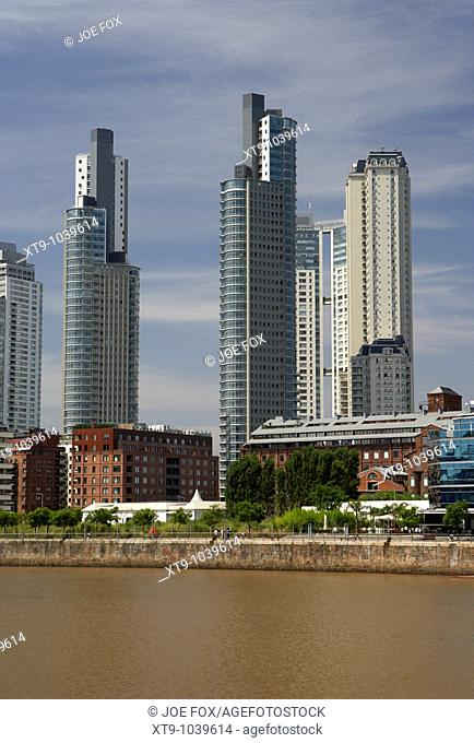 modern high rise apartment and office buildings including le parc and mulieris towers in puerto madero capital federal buenos aires republic of argentina south...