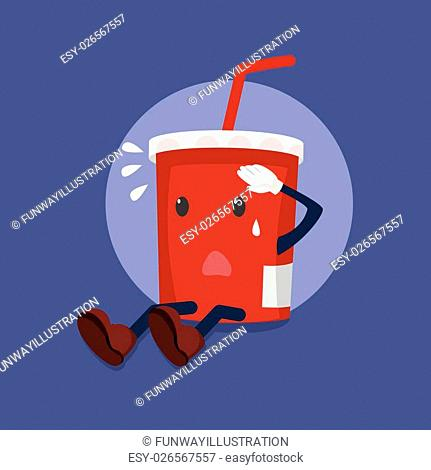 soft drink exhausted illustration design