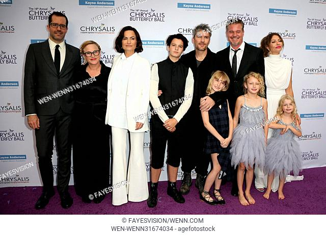 16th Annual Chrysalis Butterfly Ball - Arrivals Featuring: Eric White, Patricia Arquette, Rosetta Getty, June Getty, Balthazar Getty, Violet Getty, Eric Dane