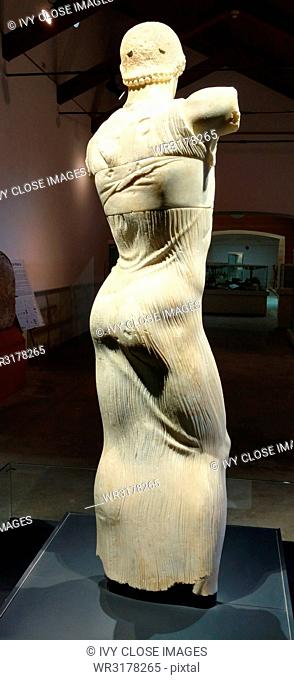 This photo dates to March 2018 in Palermo in Sicily. It shows the Motya Charioteer, which dates to around 350 B.C. It is a rare example of a Greek victor's...