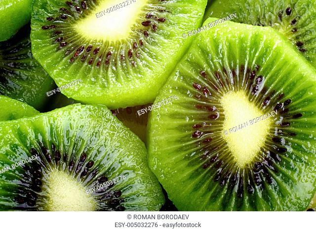 Abstract kiwi close up background or backdrop