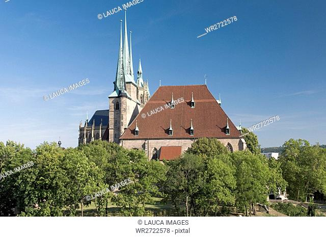 Architecture, outside view, field recording, FRG, construction, architectural style, constructions, building, federal republic, Christianity, Germany, cathedral