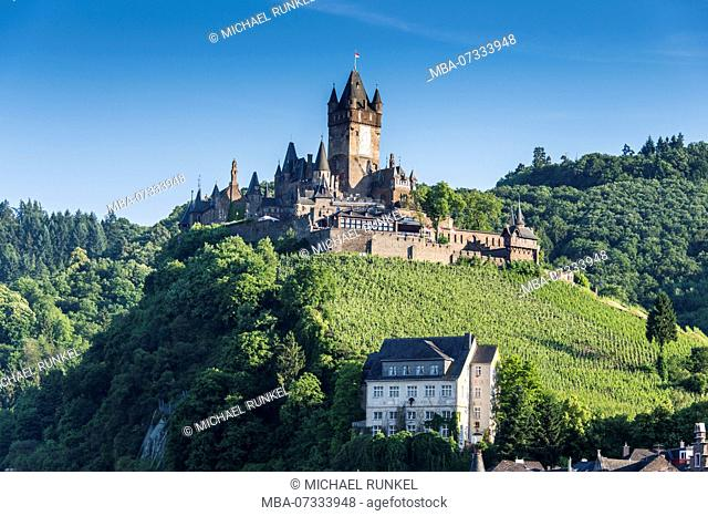 Castle Cochem, Moselle valley, Rhineland-Palatinate, Germany