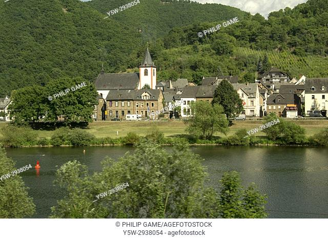 A bucolic small town in the Moselle Valley, southern Germany
