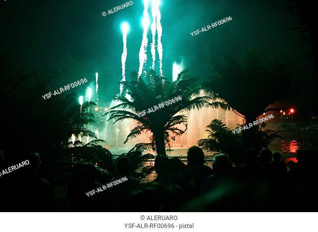 Reveillon, fireworkses, Brazil