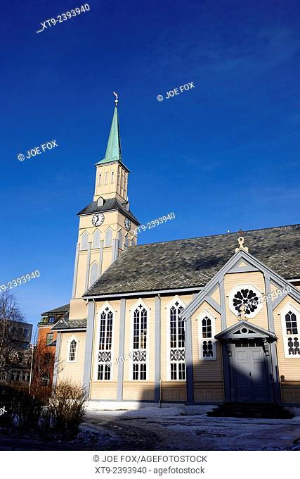 theTromso cathedral troms Norway europe norways only wooden cathedral