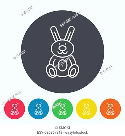 Rabbit icon. Thin line flat vector related icon for web and mobile applications. It can be used as - logo, pictogram, icon, infographic element
