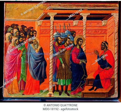 Maestà of Duccio (Maestà del Duomo di Siena), by Duccio di Buoninsegna, 1308, 14th Century, tempera on board, 211 x 426 cm