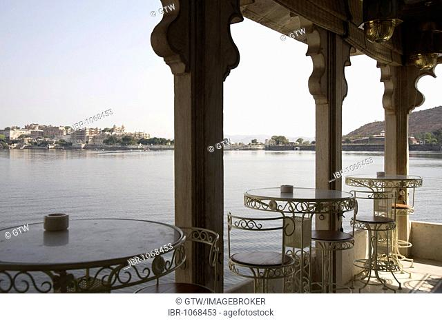 View from the Jag Mandir Palace of the City Palace, Udaipur, Rajasthan, India, South Asia