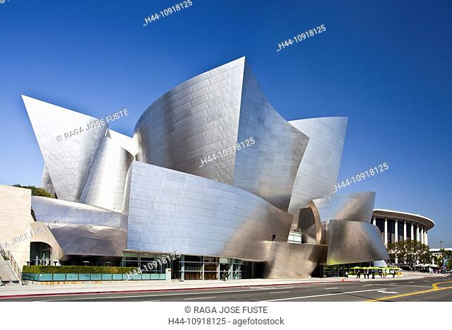 USA, United States, America, California, Los Angeles, City, Walt Disney, Concert Hall, Architect, Gehry, architecture, attraction, curved, different, exotic