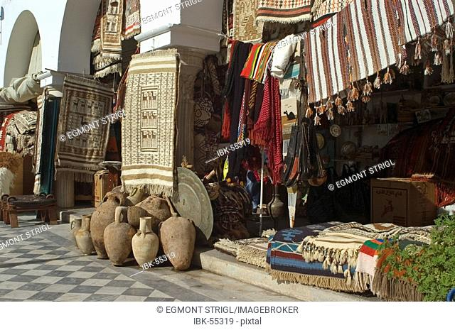 Shops in the tourist bazaar, souk, of Tripolis, Tripoli, Libya