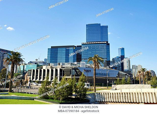 Landscape, Skyscraper and Park, Docklands, Waterfront, Melbourne, Victoria, Australia, Oceania