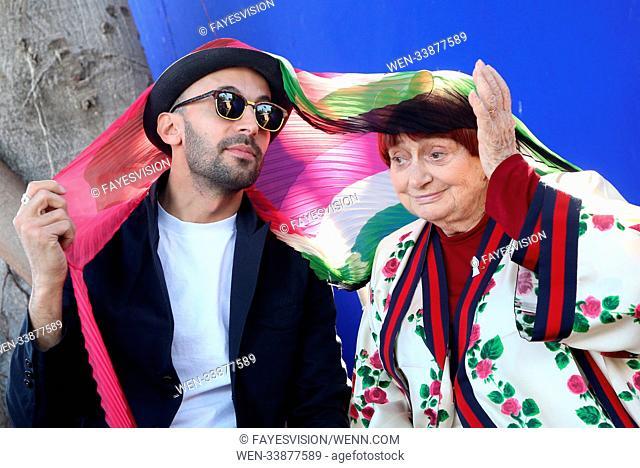 Consul General Of France Hosts 90th Academy Awards French Nominees Reception Featuring: Agnes Varda, JR Where: Beverly Hills, California