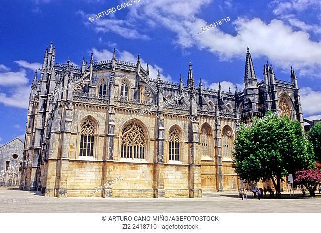 The Monastery of Batalha is a Dominican convent, XIVth century. Batalha, district of Leiria, Portugal