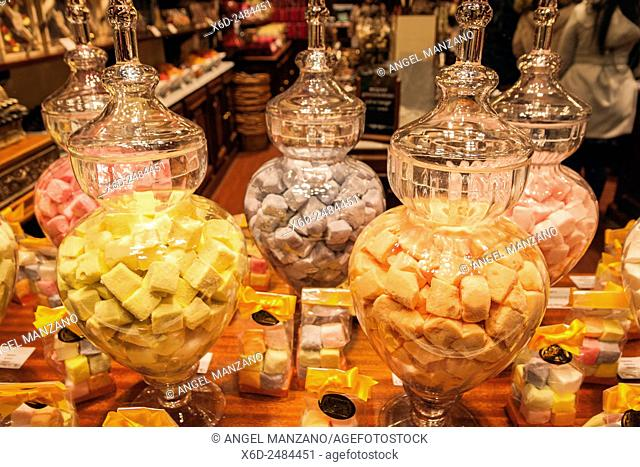 Chocolate and candy shop in Brussels