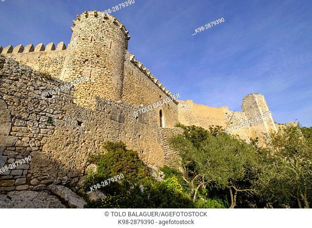 castillo de Santueri, siglo XIV, Felanitx, Sierra de Levante, Mallorca, balearic islands, spain, europe