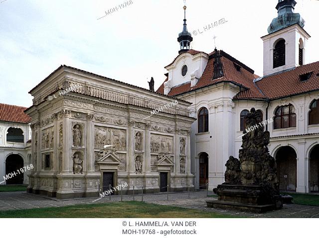 Prag, Maria-Loreto/Casa Santa mit Brunnen